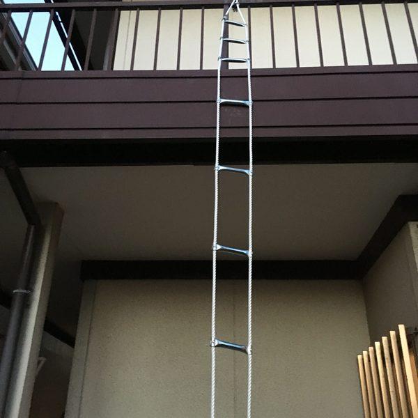 避難ロープ新規設置
