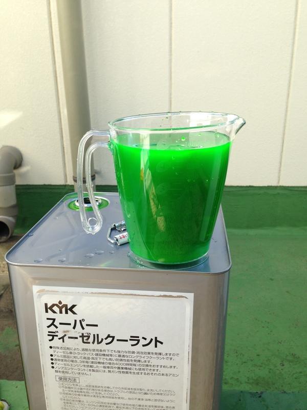 茨城県坂東市 ディーゼル発電機クーラント液補充