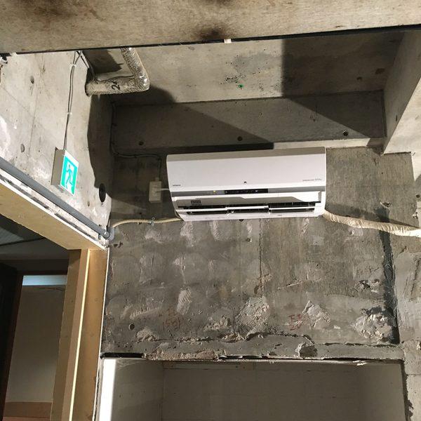 東京都豊島区 全面改装に伴いエアコン新規設置