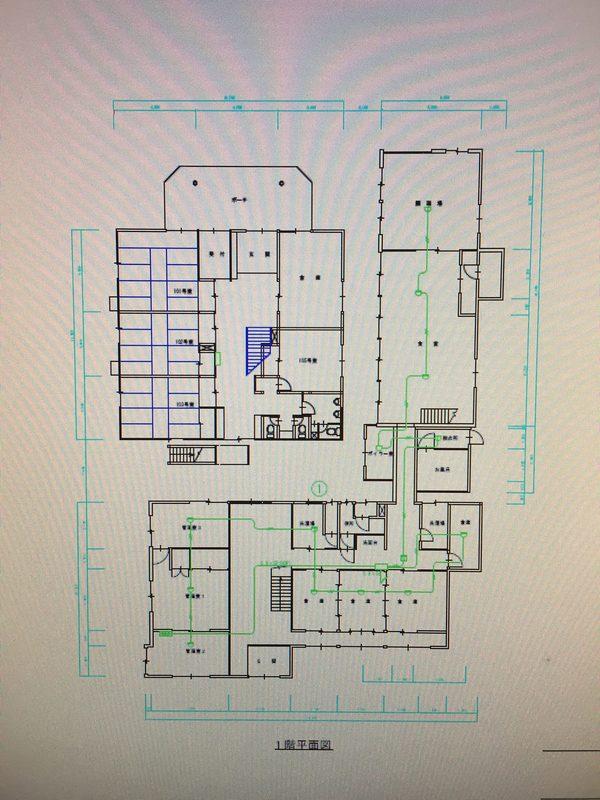 消防設備自動火災報知設備設計及び誘導灯設置図面作成