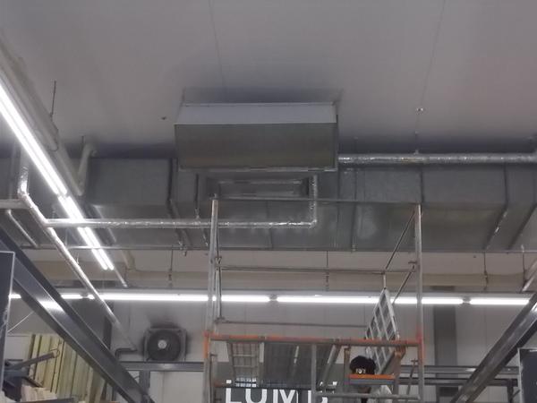 建築設備定期検査(機械排煙設備風量測定)